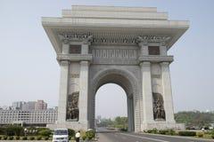 Båge av Triumph, Pyongyang Fotografering för Bildbyråer