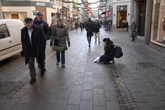 BGEGING ΕΚΤΟΣ ΝΌΜΟΥ ΣΕ DENAMRK Στοκ φωτογραφία με δικαίωμα ελεύθερης χρήσης