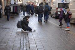 BGEGING OUTLAW IN DENAMRK. Copenhagen/Denmark/ _ 26th November  2015 _Recently danish government has outlaw begging in Denmark and danish government has passed Stock Photo