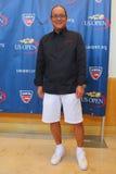 Bügeln Sie Chef Masaharu Morimoto während der US Open-Lebensmittel-Probierenvorschau Stockbild
