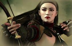 bågskyttmaid Royaltyfri Fotografi