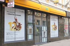 BGZ bank (Rabobank). BYTOM, POLAND - SEPTEMBER 22: BGZ bank branch on September 22, 2013 in Bytom, Poland. It is part of Rabobank group and is 11th largest bank Stock Images