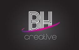 Bh Design abstract letter bh logo design idea stock vector illustration of
