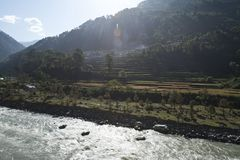 Bhagirathi River at Gangotri, Uttarkashi District, Uttarakhand, Royalty Free Stock Images
