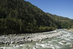 Bhagirathi River at Gangotri, Uttarkashi District, Uttarakhand, Stock Photos