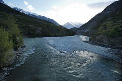 Bhagirathi River at Gangotri, Uttarkashi District, Uttarakhand, Royalty Free Stock Photos