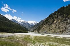 Bhagirathi River at Gangotri, Uttarkashi District, Uttarakhand, Stock Images