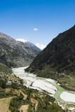 Bhagirathi River at Gangotri, Uttarkashi District, Uttarakhand, Royalty Free Stock Photo