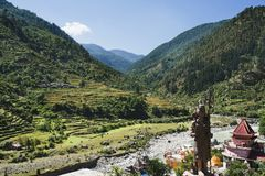 Bhagirathi River at Gangotri, Uttarkashi District, Uttarakhand, Stock Photo