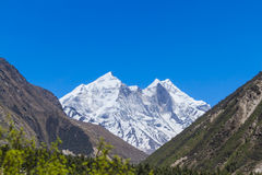 The Bhagirati Peaks Royalty Free Stock Photos