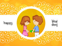 Bhai Dooj background Royalty Free Stock Image