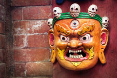 Bhairab mask at Nepal market stock images