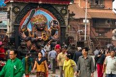 Bhairab statua, bóg niszczy przy Durbar kwadratem w Kathmandu Zdjęcie Royalty Free