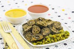 Bhajiya ή patra Arbi Στοκ Εικόνα