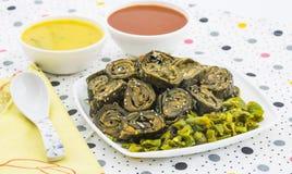 Bhajiya ή patra Arbi Στοκ Φωτογραφίες