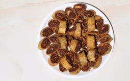 Bhakarwad. I: traditional Maharashtra dish made on the occasion of a festival stock images
