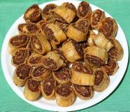 Bhakarwad. I: traditional Maharashtra dish made on the occasion of a festival stock photos