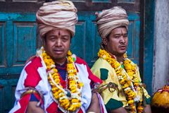 bhaktapur仪式尼泊尔puja 免版税图库摄影