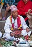 bhaktapur农民尼泊尔的nevaris 库存图片