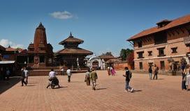 bhaktapur尼泊尔广场 库存图片