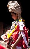 bhaktapur尼泊尔nevaris教士pujari 免版税库存照片