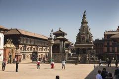 Bhaktapur著名Durbar广场  库存图片