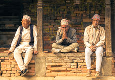 Bhaktapur,尼泊尔本机  免版税库存图片