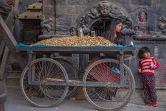 bhaktapur Непал Стоковое фото RF