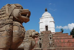 bhaktapur尼泊尔广场 免版税库存图片