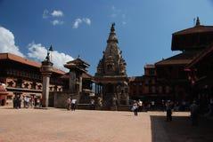 bhaktapur尼泊尔广场 免版税库存照片