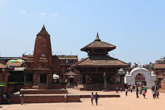 城市Bhaktapur尼泊尔 免版税库存照片