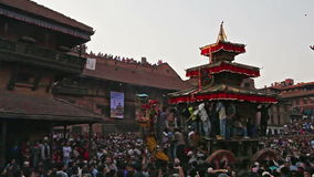 Bhaktapur center square is crowded during Nepali N