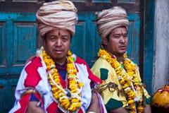 bhaktapur ceremonii Nepal puja Fotografia Royalty Free
