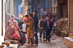 Bhaktapur - città del colourfull Fotografia Stock Libera da Diritti