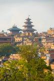 Bhaktapur Cityscape Nyatapola Pagoda Distant Stock Images