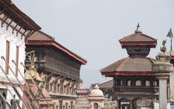Bhaktapur Durbar广场,世界遗产,尼泊尔 免版税图库摄影