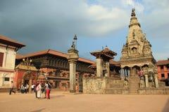Bhaktapur Durbar广场 免版税图库摄影