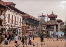 bhaktapur durbar正方形 免版税图库摄影