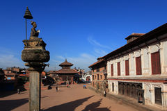 bhaktapur durbar πλατεία του Νεπάλ Στοκ Φωτογραφίες