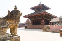 bhaktapur durbar πλατεία του Νεπάλ Στοκ Φωτογραφία