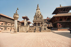 bhaktapur durbar τετραγωνικός ναός του Νεπάλ στοκ εικόνες με δικαίωμα ελεύθερης χρήσης