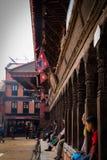 Bhaktapur Durbar Quadrat lizenzfreie stockfotos