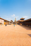 Bhaktapur Durbar Square Entire Wide Angle View V Royalty Free Stock Images