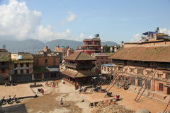 Bhaktapur Durbar Square, Nepal after the earthquake in 2015 Stock Photos