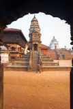 Bhaktapur Durbar Square Siddhi Laxmi Temple Framed Royalty Free Stock Photo