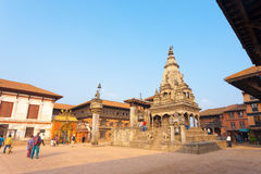 Bhaktapur Durbar Square Temple Palace Tourists Royalty Free Stock Image
