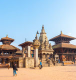 Bhaktapur Durbar Square Vatsala Durga Angled Royalty Free Stock Photography