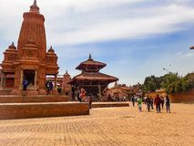 Bhaktapur durbar suqare stock afbeelding