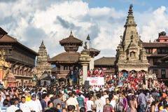 Bhaktapur gatafestival 2012, Nepal Royaltyfria Bilder