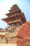 Bhaktapur, Nepal - Circa June 2013: View of Durbar Square royalty free stock image